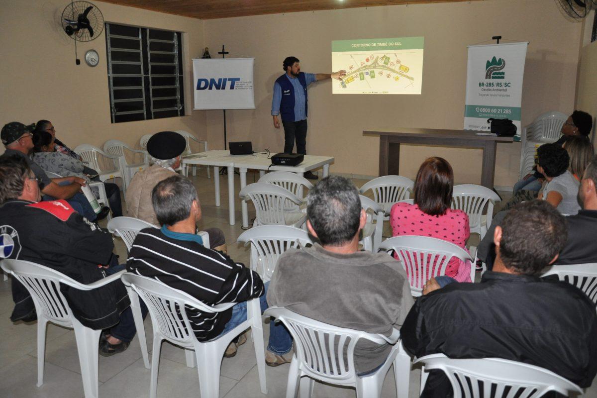 DNIT realizou reuniões sobre as obrasda BR-285/RS-SC em Timbé do Sul