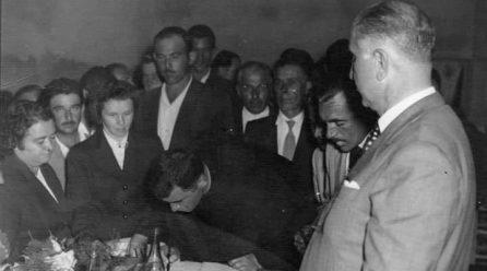 Imagem que marcou o nascimento de Jacinto Machado