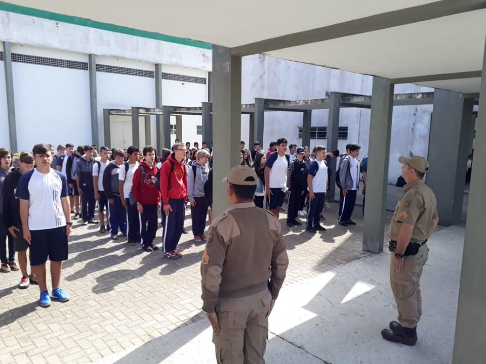 Polícia Militar implanta projeto em escola de Timbé do Sul