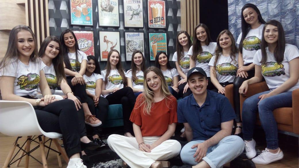 Candidatas as soberanas da Festa do Agricultor de Ermo estiveram na Post TV