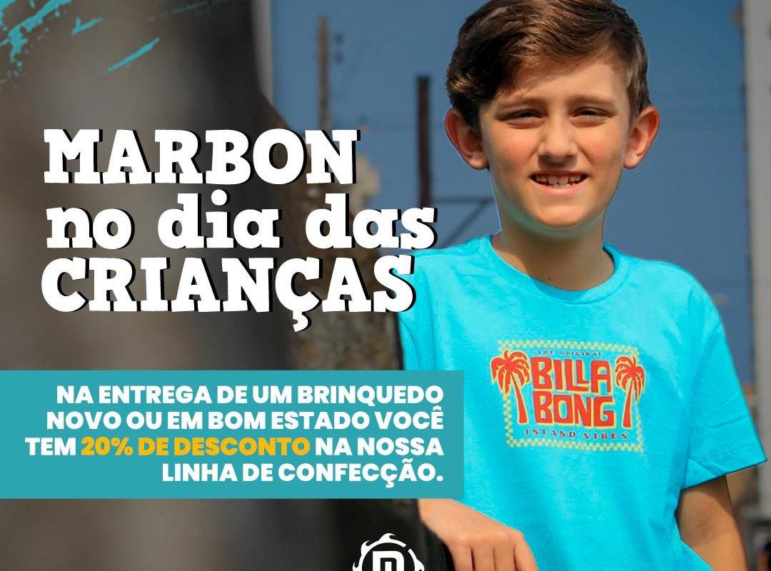 Loja Marbon lançou campanha para o dia das crianças