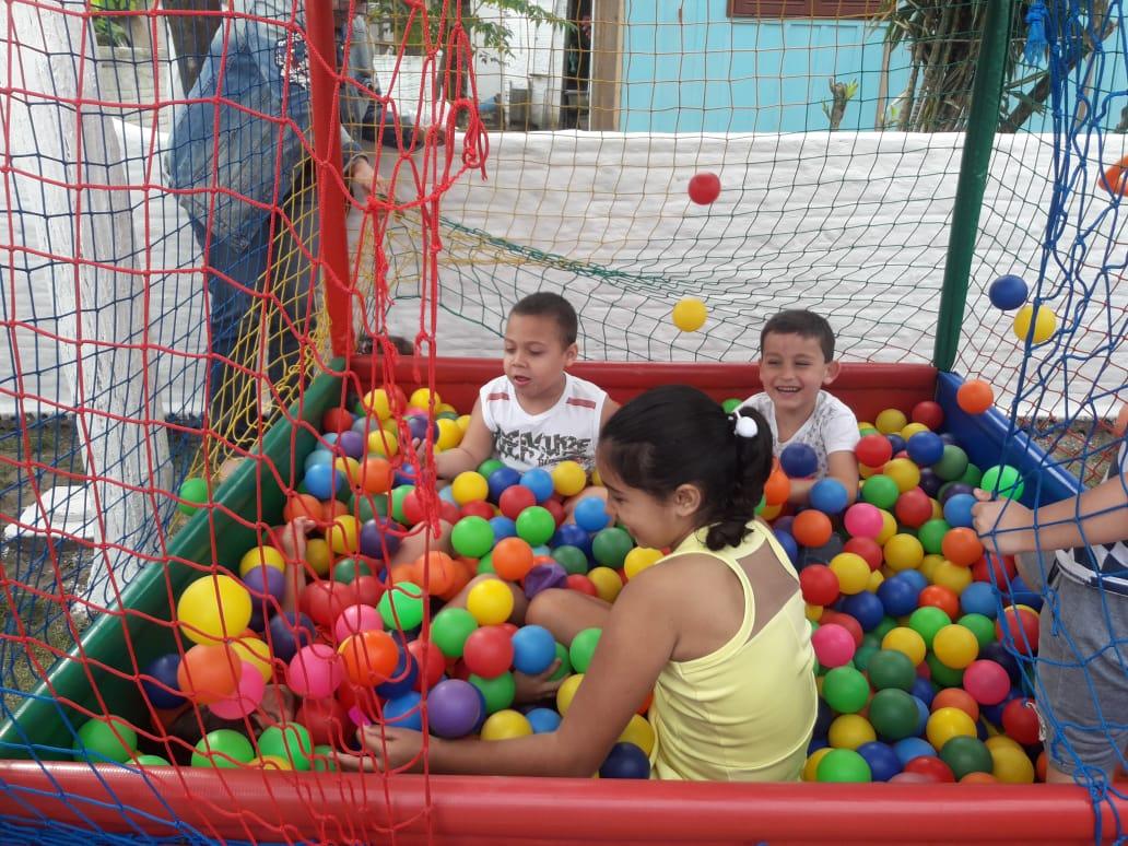 Festa para as crianças teve muita alegria e diversão