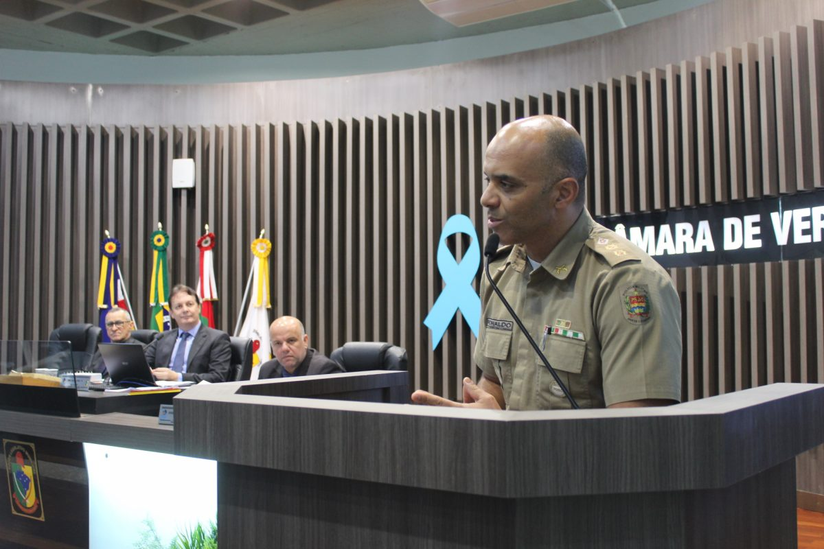 Novo comandante do 19º BPM se apresenta aos vereadores