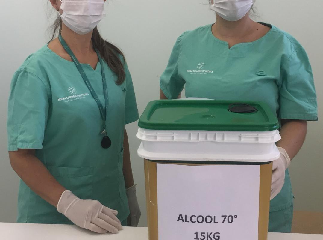Cooperja, Rozálcool e Omnes doam álcool gel para Instituições de Saúde da Amesc
