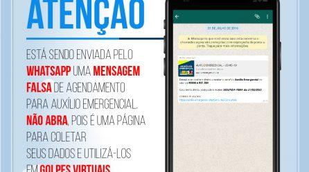 PM alerta usuários do Whatsapp sobre golpe do 'auxílio coronavírus'