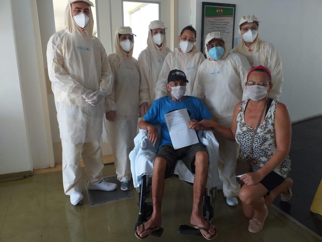 Curado: HRA dá alta para segundo paciente com coronavírus da Amesc