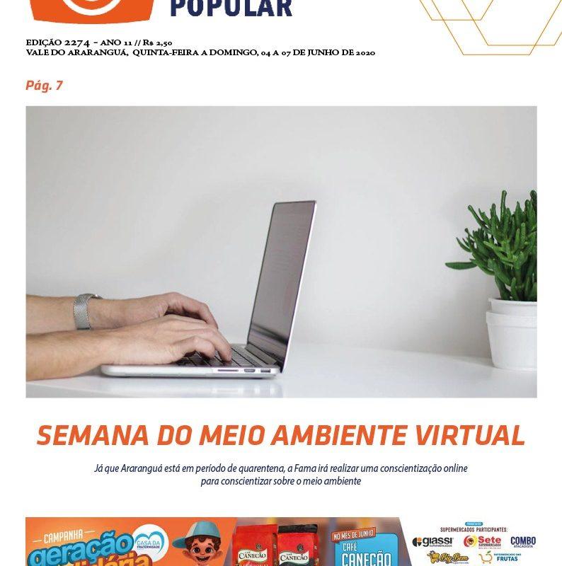 Edição 2274 – Jornal Enfoque Popular, 04, 05, 06 e 07 de Junho de 2020
