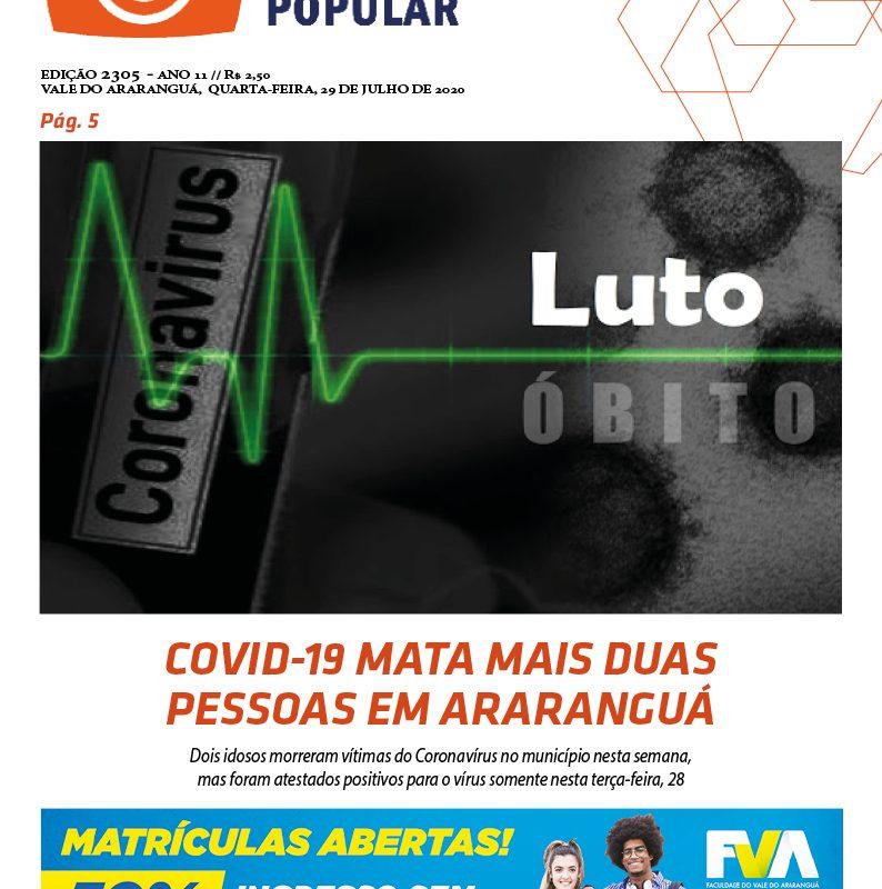 EDIÇÃO 2305 – 29/07/2020 – JORNAL ENFOQUE POPULAR