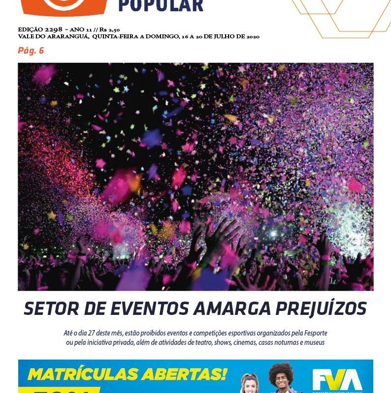 EDIÇÃO 2298 – 16 À 19/07/2020 – JORNAL ENFOQUE POPULAR