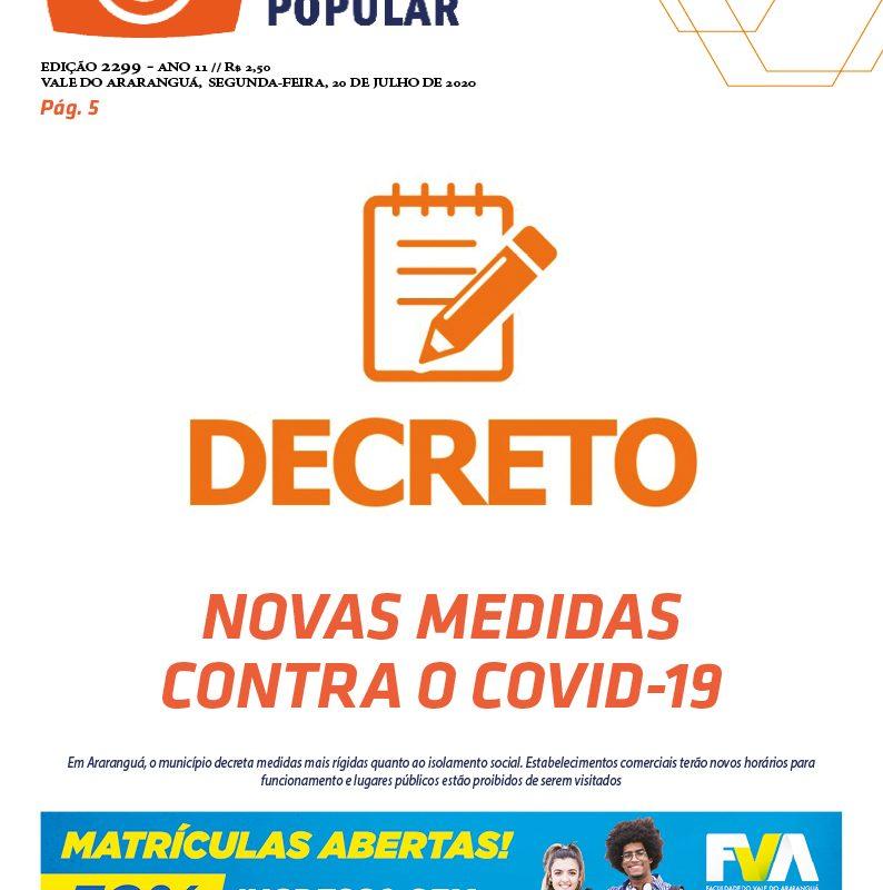 EDIÇÃO 2299 – 20/07/2020 – JORNAL ENFOQUE POPULAR