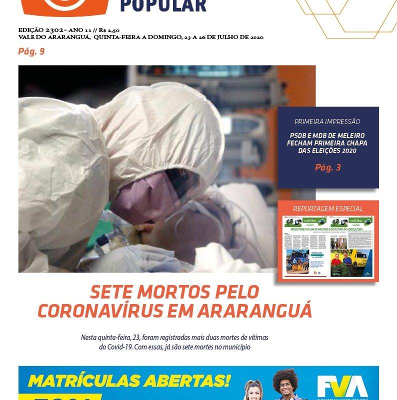 EDIÇÃO 2302 – 23/07/2020 – JORNAL ENFOQUE POPULAR