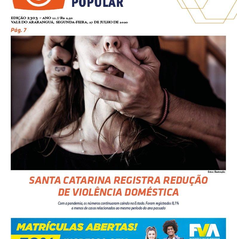 EDIÇÃO 2303 – 27/07/2020 – JORNAL ENFOQUE POPULAR