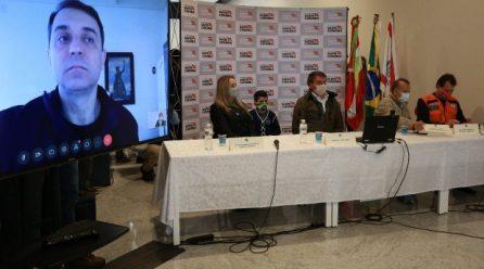 Bolsonaro garante apoio do Governo Federal para reconstrução de estruturas danificadas