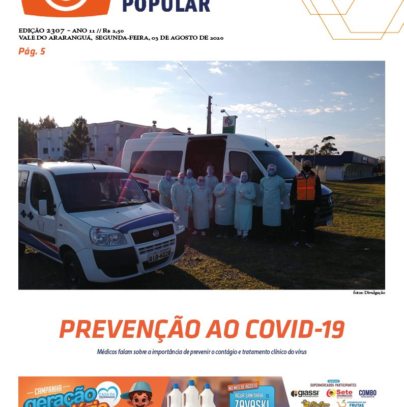 EDIÇÃO 2307 – 03/08/2020 – JORNAL ENFOQUE POPULAR