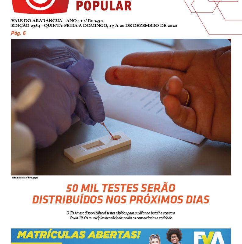 Edição 2384 – 17-12-2020 / JORNAL ENFOQUE POPULAR