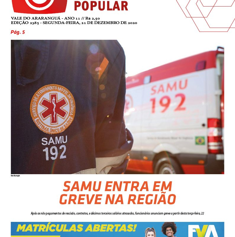 Edição 2385 – 21-12-2020 / JORNAL ENFOQUE POPULAR