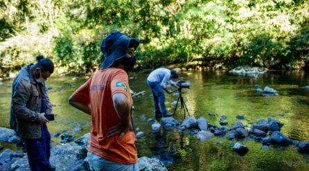 Equipe grava vídeos na região para o Ministério do Meio Ambiente